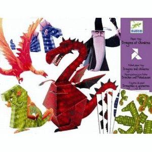 JUGUETES DE PAPEL DRAGONES Y MAGOS