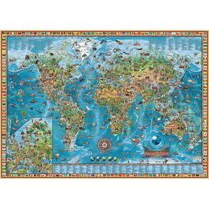 PUZZLE 2000 PIEZAS AMAZING WORLD MAP ART COLOR