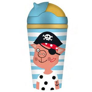 BOTTLE BAMBOO KIDS RAYAS CERDITO PIRATA