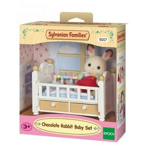 SET BEBE CONEJO CHOCOLATE CON CAMA