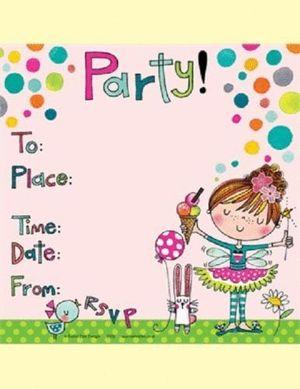 Invitaciones Para Cumpleaños Niña Bailarina