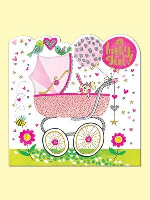 TARJETA FELICITACION BABY GIRL