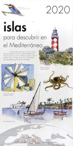 CALENDARIO PARED 2020 ISLAS PARA DESCUBRIR EN EL MEDITERRANEO