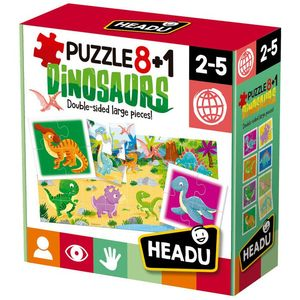 PUZZLE 8 + 1 DINORAURIOS HEADU