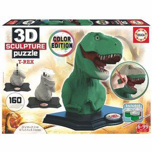 PUZZLE COLOR 3D ESCULTURA T-REX