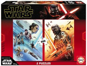 PUZZLE 2 X 500 PIEZAS STAR WARS EPISODIO IX