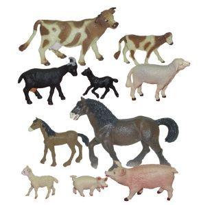 CONJUNTO ANIMALES Y CRIAS GRANJA (10 U.)