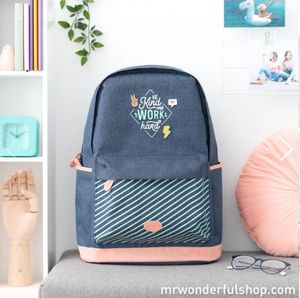 MOCHILA - BE KIND AND WORK HARD