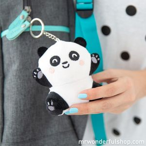 LLAVERO PELUCHE SQUISHY - PANDA