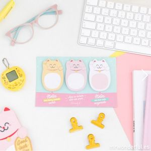 NOTAS ADHESIVAS MANEKI-NEKO - LUCKY COLLECTION