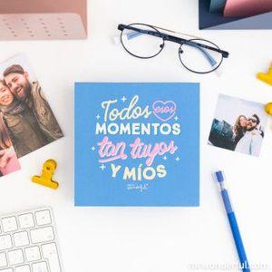 CAJA CON ÁLBUM DE FOTOS - TODOS ESOS MOMENTOS TAN TUYOS Y MÍOS