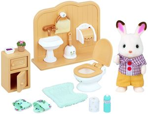 SET HERMANO CONEJO CHOCOLATE BAÑO