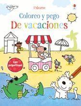 DE VACACIONES COLOREO Y PEGO