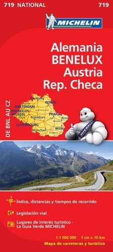 MAPA NATIONAL ALEMANIA BENELUX AUSTRIA REP. CHECA