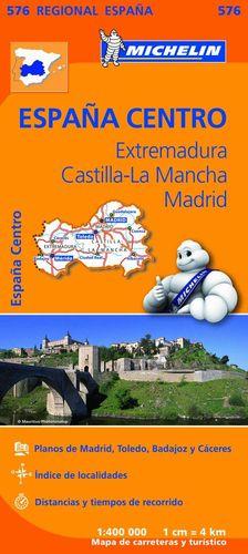 MAPA EXTREMADURA, CASTILLA LA MANCHA, MADRID REGIONAL