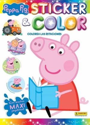 STICKER & COLOR PEPPA PIG COLOREA ESTACI