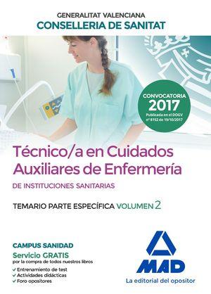 TÉCNICO EN CUIDADOS AUXILIARES DE ENFERMERÍA DE LA CONSELLERIA DE SANITAT DE LA