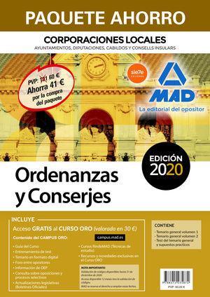 PAQUETE AHORRO ORDENANZAS Y CONSERJES DE CORPORACIONES LOCALES. AHORRO DE 41 ? (