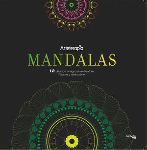 ARTETERAPIA. MANDALAS. 12 DIBUJOS M罣ICOS: RASCA Y DESCUBRE