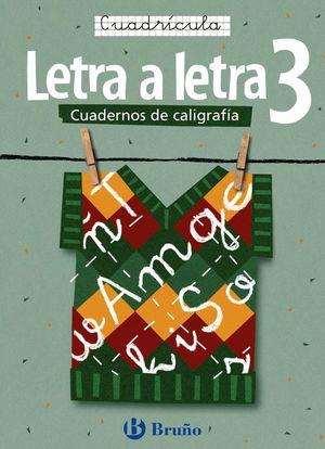 CALIGRAFÍA LETRA A LETRA CUADRÍCULA 3