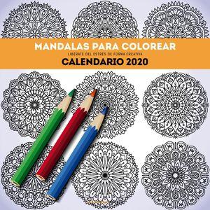 CALENDARIO PARED 2020 MANDALAS PARA COLOREAR