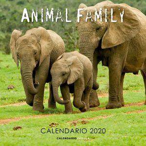 CALENDARIO PARED 2020 ANIMAL FAMILY
