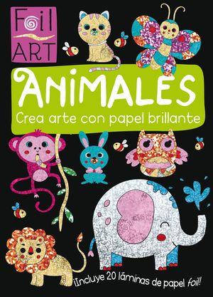 ANIMALES CREA ARTE CON PAPEL BRILLANTE