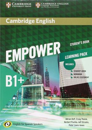 CAMBRIDGE ENGLISH EMPOWER FOR SPANISH SPEAKERS B1+ STUDENT'S BOOK