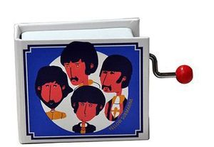 CAJA MUSICA LIBRO MANIVELA YELLOW SUBMARINE THE BEATLES
