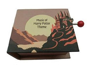 CAJA MUSICA LIBRO MANIVELA HARRY POTTER THEME