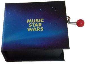CAJA MUSICA LIBRO MANIVELA MUSIC STAR WARS