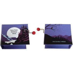 CAJA MUSICA LIBRO MANIVELA HARRY POTTER WONDROUS WORLD