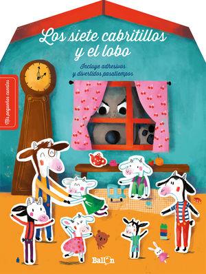 STICKERS - LOS SIETE CABRITILLOS Y EL LOBO